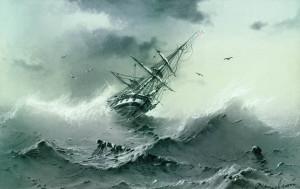 Shipwreck by artist Ivan Aivazovsky